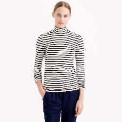 J.Crew - Tissue Turtleneck Tee In Heather Stripe