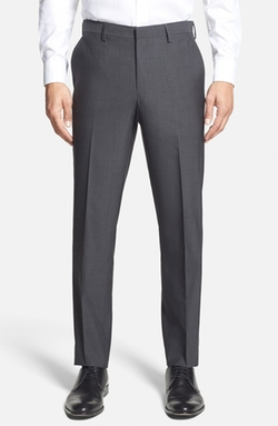 Calibrate - Wool & Mohair Flat Front Trousers