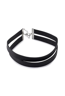 Forever 21 - Faux Leather Choker Necklace