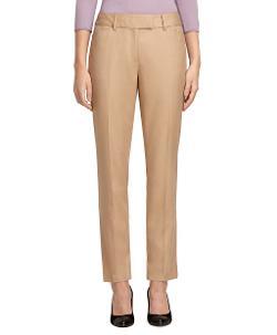 Brooks Brothers - Petite Caroline Fit Wool Flannel Pants