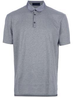 Lanvin  - Contrast Collar Polo Shirt