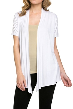 12 Ami - Open Front Cardigan