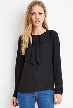 Forever 21 - Bow-Front Blouse