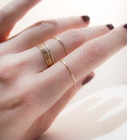 Tarnished & True - Gold Stacking Ring Set
