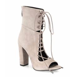 Kendall + Kylie - Ella Suede Lace-Up Block-Heel Booties