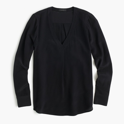 J.Crew - Silk Drapey V-Neck Blouse