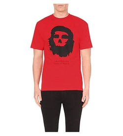 Black Scale  - Marxist Skull Cotton-Jersey T-Shirt