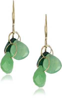 Melissa Joy Manning  - Neptune Chrysoprase and Gem Calcia Earrings