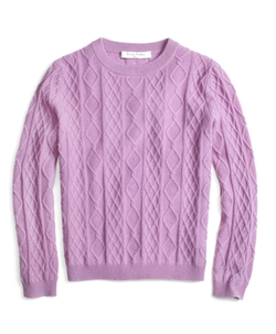 Brooks Brothers - Cashmere Diamond Cable Crewneck Sweater