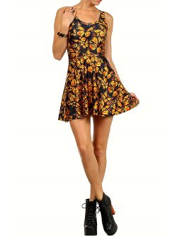 Poprageous  - Attack Of The Monarch Butterflies Dress