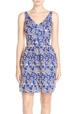 Kaya & Sloane - Jacquard Fit & Flare Dress