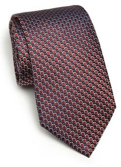 Armani Collezioni  - Circle Print Silk Tie