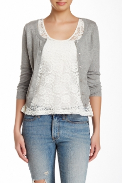 Wild Pearl - Scoop Neck Cropped Cardigan