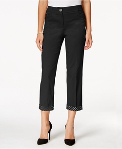 Style&Co. - Rhinestone-Trim Cropped Pants