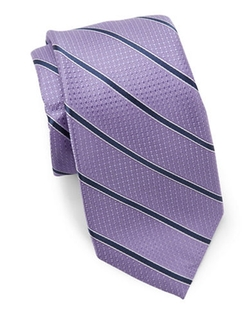 Black Brown 1826  - Classic Striped Tie