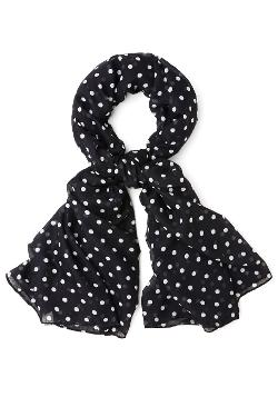 Dots to Discuss  - Scarf in Black