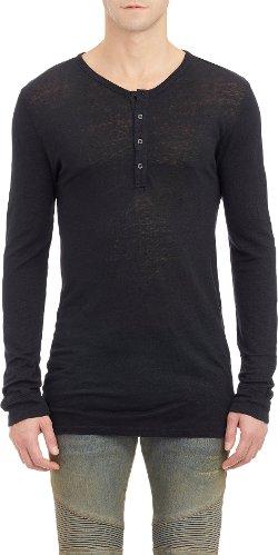 Balmain  - Slub Jersey Henley Shirt