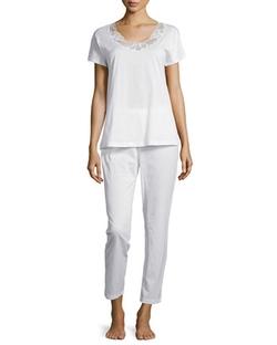 Hanro - Savona Short-Sleeve Pajama Set