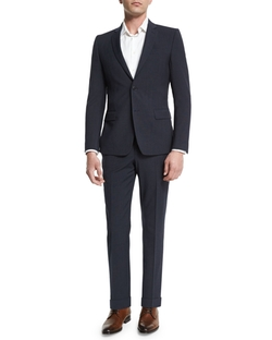 Versace - Birdseye Textured Two-Piece Suit