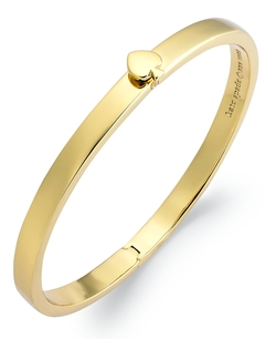 Kate Spade New York  - 12k Gold-plated Spade Hinged Thin Bangle Bracelet