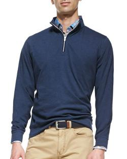 Peter Millar - 1/2-Zip Jersey Pullover Sweater
