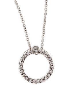Roberto Coin  - XS Diamond Circle Pendant Necklace
