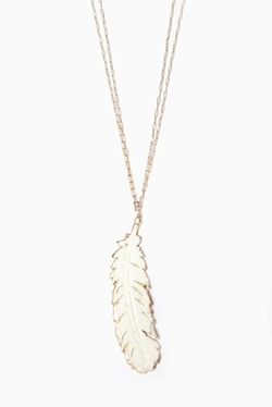 Heather Gardner  - Double Chain Feather Necklace