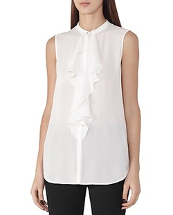 Reiss  - Elias Ruffled Silk Shirt