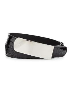 Giuseppe Zanotti - Croc-Embossed Plaque Belt