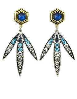 Romwe - Rhinerstone Long Hanging Stud Jewelry Fashion Earrings
