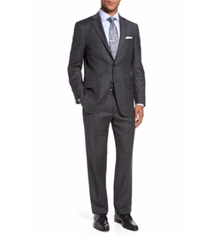 Hart Schaffner Marx - Classic Fit Windowpane Wool Suit