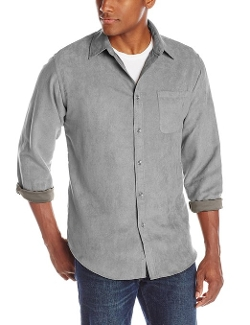 Van Heusen  - Long Sleeve Faux Suede Button Down Shirt