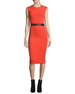 McQ Alexander McQueen	  - Zip-Trim Bodycon Sheath Dress