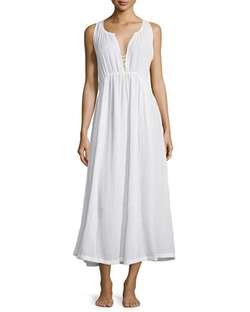 Skin - Sleeveless V-Neck Gathered Nightgown