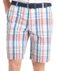 Izod  - Flat-Front Plaid Shorts