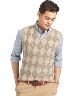 Izod - Textured Argyle Sweater Vest