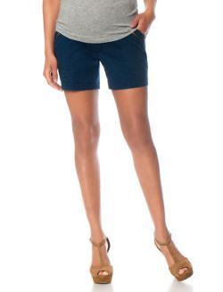 MotherHood - Secret Fit Belly Exposed Zipper Maternity Shorts