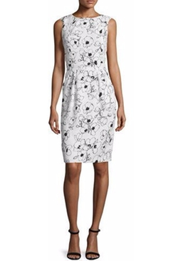 Oscar de la Renta - Sleeveless Floral-Print Sheath Dress