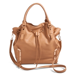 Target - Solid Tote Handbag with Drawstring Closure