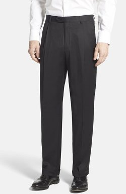 Hart Schaffner Marx  - Pleated Wool Trousers