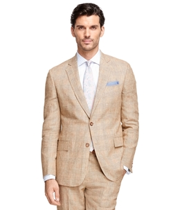 Brooks Brothers - Regent Fit Plaid Linen Suit