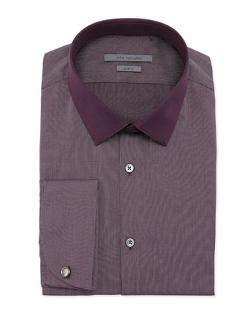 John Varvatos - Slim-Fit Pin-Dot Poplin Dress Shirt