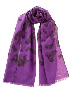 Elizabetta - Paisley Wool Linen Italian Lightweight Fashion Scarf