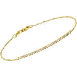Tate - Diamond & Gold Bar Bracelet