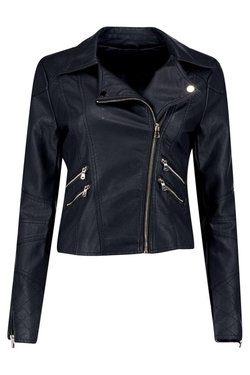 Boohoo - Ella Leather Look Biker Jacket