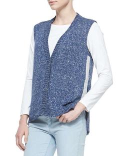Lafayette 148 New York - Snap-Front Knit Vest