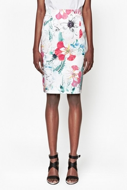 French Connection - Floral Reef Pencil Skirt