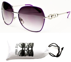 Style Vault - Oversized Metal Sunglasses