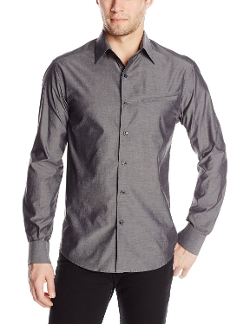 Vince Camuto - Long-Sleeve Button-Front Shirt