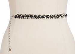 Fashion Focus  - Leather Laced Chain Belt